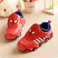 Niños shoes 2017 otoño/primavera boys & girls moda niños shoes para niños spiderman flash shoes zapatillas deportivas para los niños