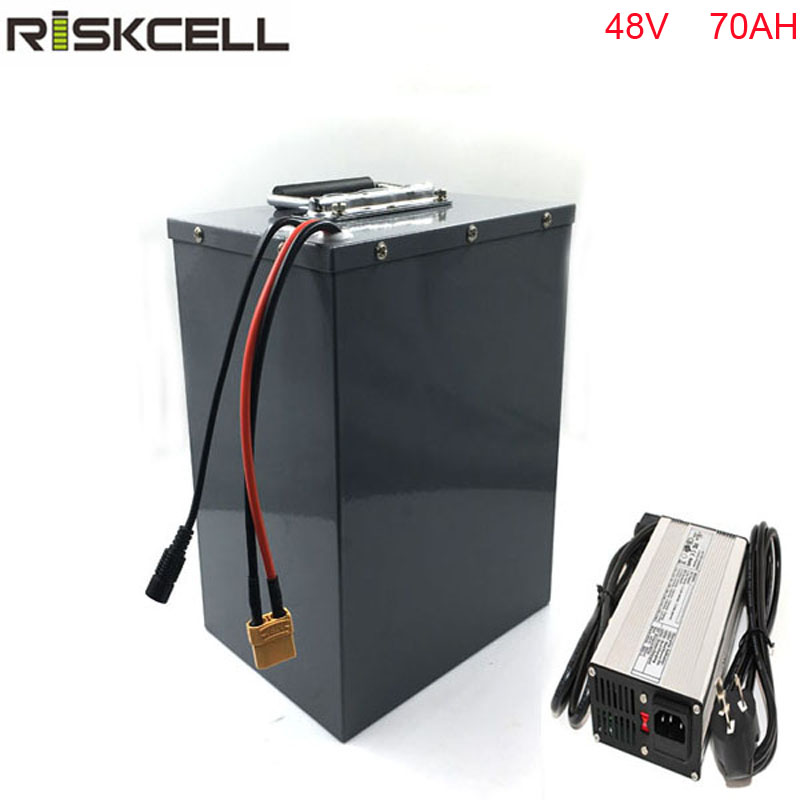 Powerful Lithium ion solar energy storage battery pack 48V 70Ah li-ion Battery with 50A BMS powerful 48v electric bike battery pack li ion 48v 50ah 1000w batteries for electric scooter with use panasonic 18650 cell
