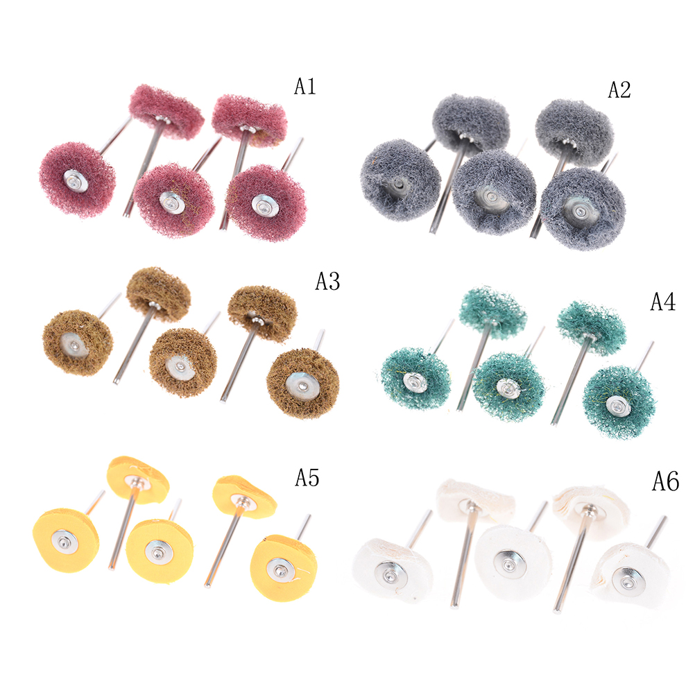 Electric Dill Grinding Accessories Abrasive Wheel Nylon Fiber Engraving Sanding Head Buffing Polishing Wheel