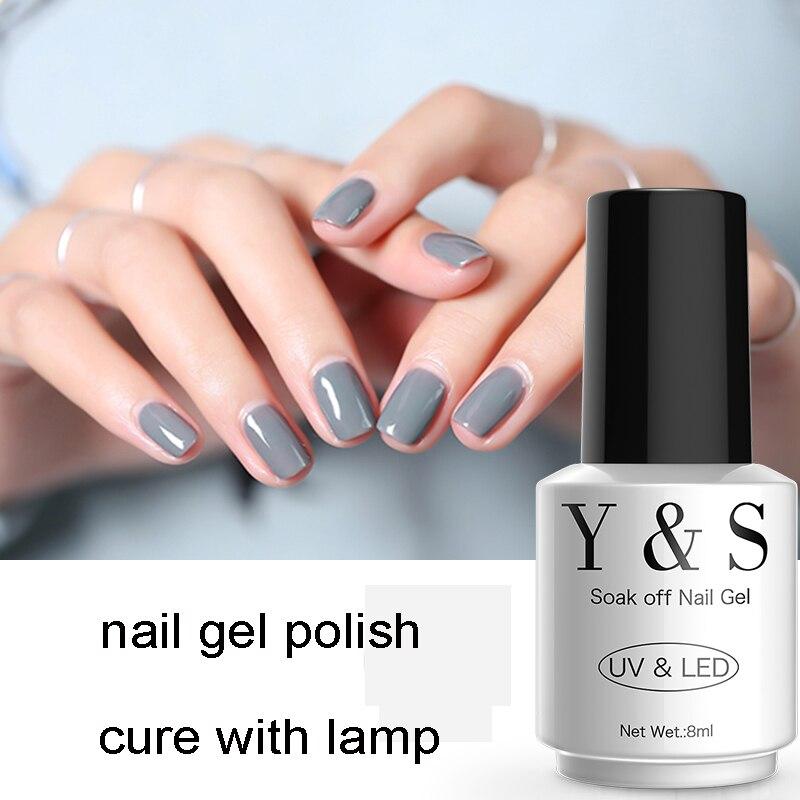 Y&S UV Soak Off Gray Gel Nail Polish 8ml New DIY Nail Art