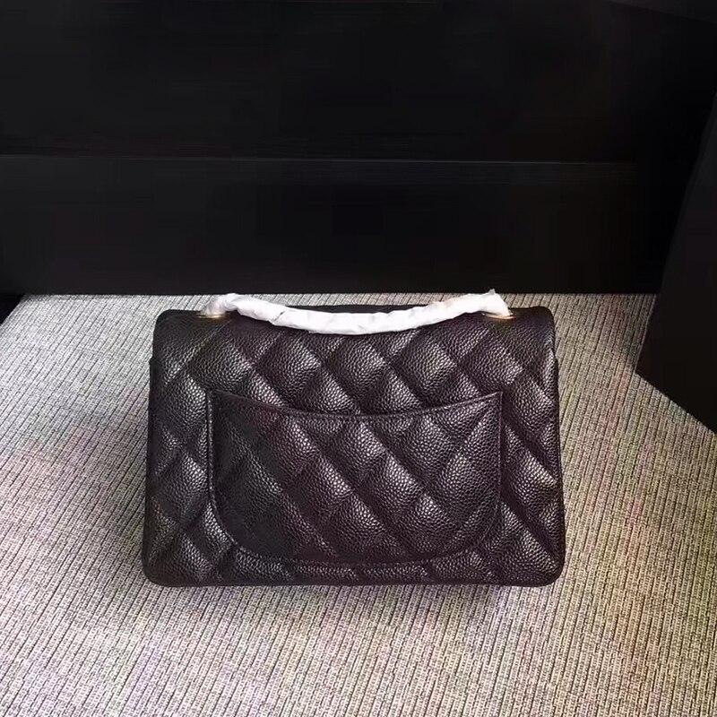 Classic mini caviar leather bag luxury handbag women Genuine leather crossbody bag brand feminina metal chain messenger bags 247 classic leather