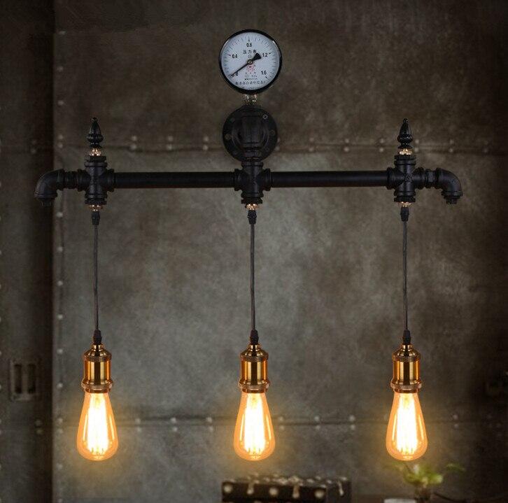 ᐃAmerikaanse Slaapkamer Nachtkastje Wandlamp Platteland Ijzer ...