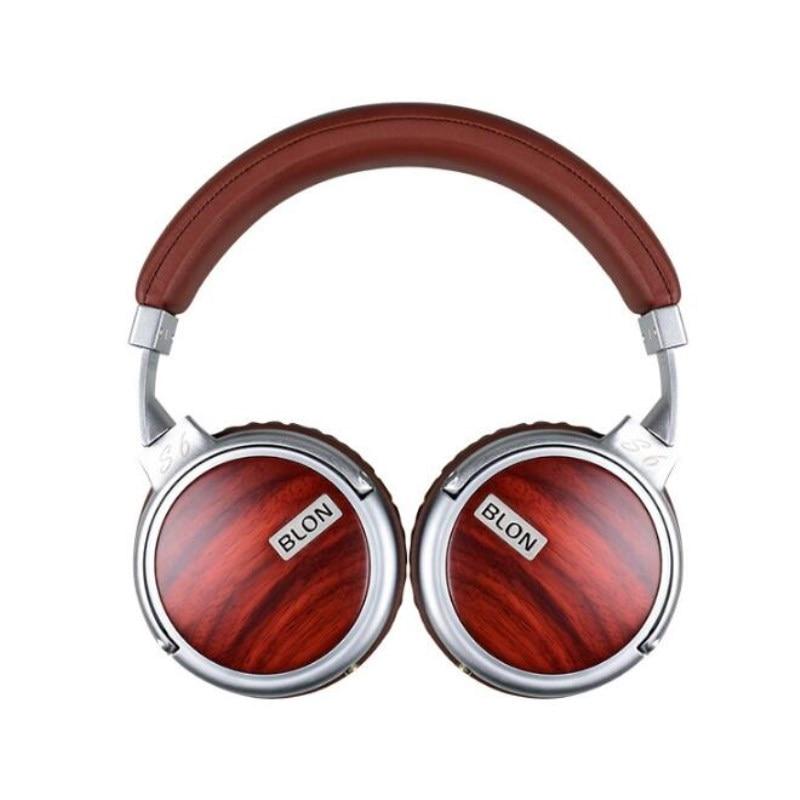BLON S6 Hi FI Headphone Wooden Stereo Dynamic Metal DJ Headset Bass Headphones Audio Earphone Over Ear Auriculares 3.5mm Jack