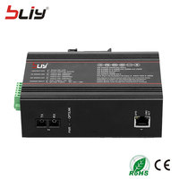 Bliy 1000mbps 2 port 58V gigabit ethernet switch industrial with 1 dual fiber optic switch port lan switch poe mikrotik 1 rj45