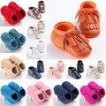 Nuevas Adquisiciones Bebé Borla Zapatos de Moda de La Calle Niños Mocasines Zapatos Del Niño Zapatos Recién Nacidos Primeros Caminante del Cabrito 216