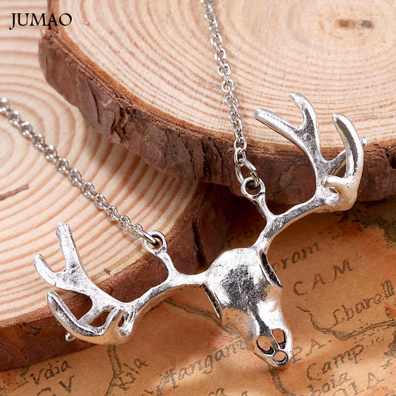 Trendy Jewelry Deer Antler Necklace Reindeer Head Necklace For Women Men Jewelry