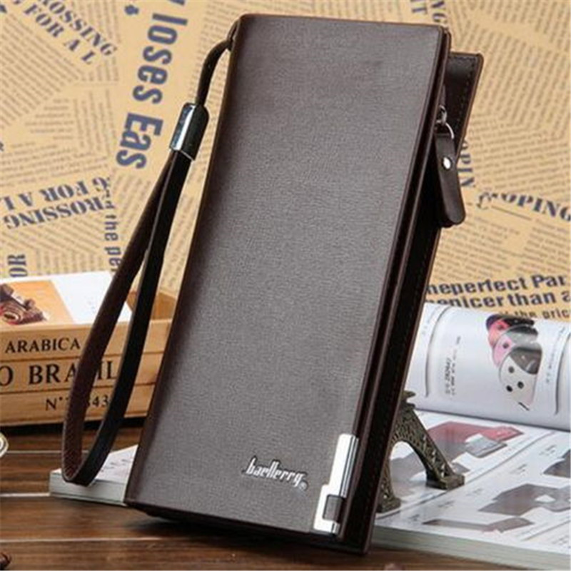 2020 Brand New Style Men's Leather Bifold ID Card Holder Long Wallet Purse Checkbook Clutch Billfold