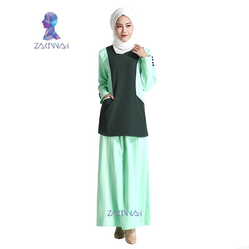 New Turkish Islamic Clothing Traditional Muslim Women Dress Suit Abaya Designs Dubai Fashion Muslim Kaftans Free