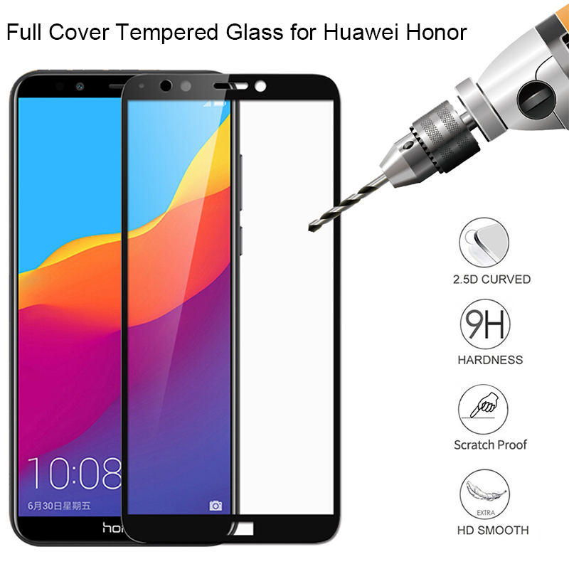 Tempered Glass On Honor 7A 7C Pro Russia Protective Glass For Huawei Y5 Y6 Prime 2018 Screen Protector For Huawei Y7 Prime