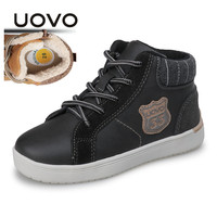 UOVO 2018 Meninos Sapatos de Inverno sapatos De Algodão Tênis para Meninos Quentes Crianças De Pelúcia Crianças Botas Confortáveis Não-Deslizamento Sapatos tamanho 28 #-37