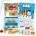 Clássico Meninas Fingir Jogar Cozinha de Brinquedo para Crianças Casa de Bonecas Em Miniatura Frigorífico