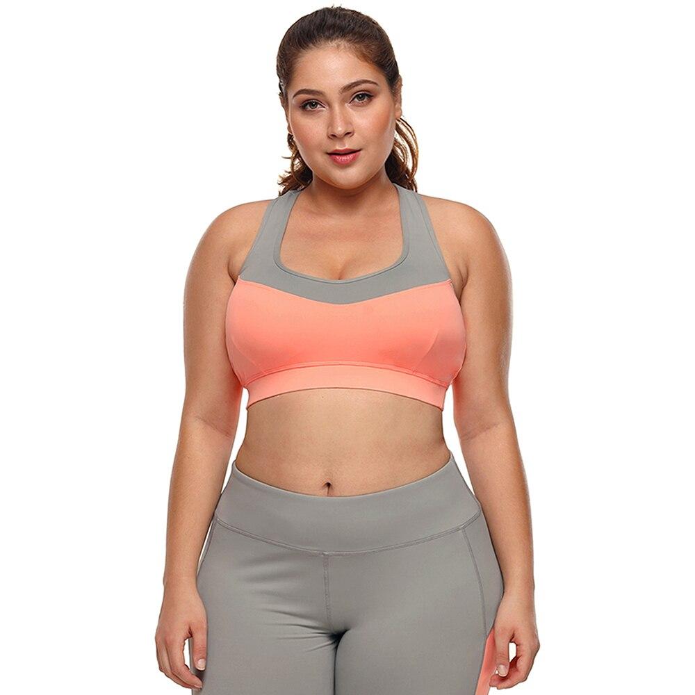 Grande Big Plus Size de Fitness Top Feminino Esporte Brassiere Push Up  Tubulação Guarnição Acolchoado Mulheres Correndo Sutiã Esportivo de Yoga  Treino 2018 b6e3d40b2a5dd