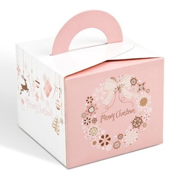 Pink Christmas Box Cake Box Cheese Cookie Cake Boxes Christmas Food
