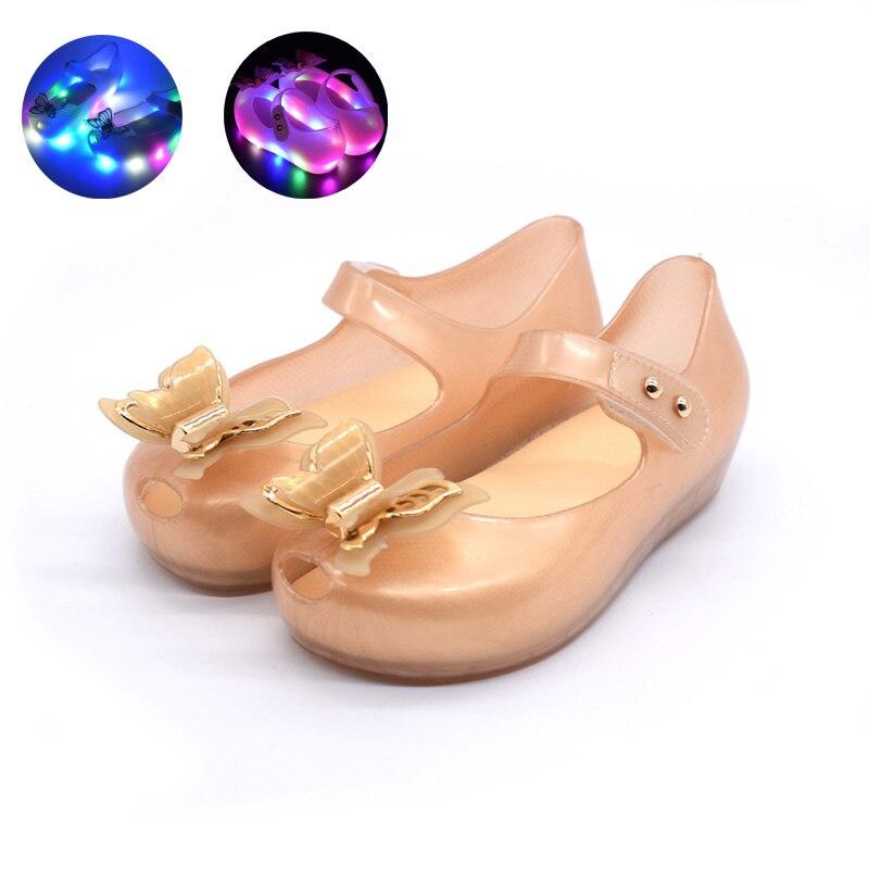 2019 Neue Ankunft Baby Mädchen Sandalen Mit Led Licht Bowknot Prinzessin Kinder Kinder Weiche Schuhe Dinge FüR Die Menschen Bequem Machen