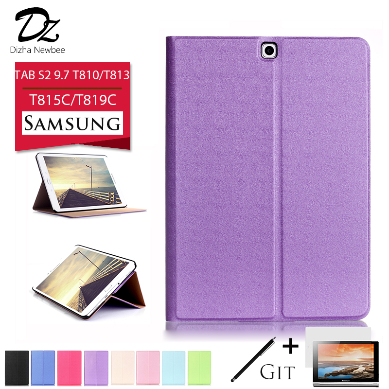 Dizha PU Leather case for Samsung Galaxy TAB S2 9.7 T810 T813 cover case for Samsung TAB S2 9.7 inch T815C T819C sleep function