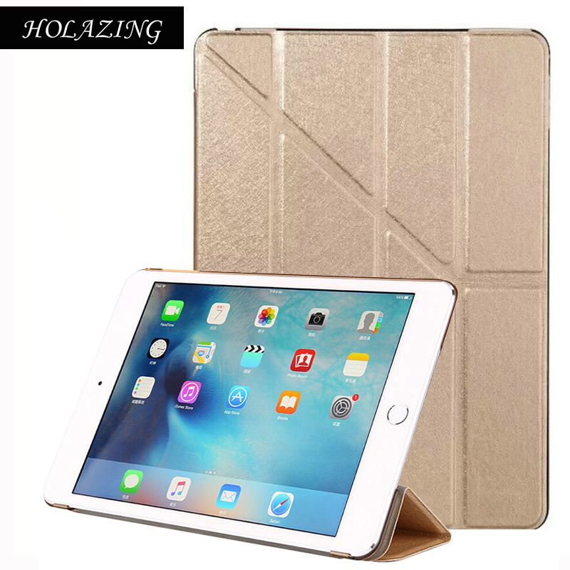 Grass Pattern Removable Multi-fold PU Leather Smart Cover For iPad 2 3 4 Magnetic Auto On/Off Stand Case For iPad2 iPad3 iPad4
