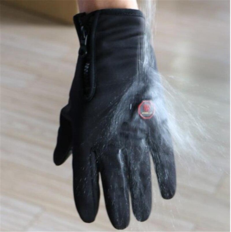 WHEEL UP Men Sports Full Finger Anti Slip Breathable Fleece Bike Mittens Gloves Cycling Gloves Winter MTB Road Bike Gloves in Cycling Gloves from Sports Entertainment