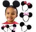 10 unids niños accesorios para el cabello orejas de Mickey Minnie Mouse vendas decoración fiesta de cumpleaños de las muchachas del partido diadema