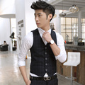Fashion boutique vest 2016 spring and autumn british style plaid slim vest fashion male suit vest set free shipping