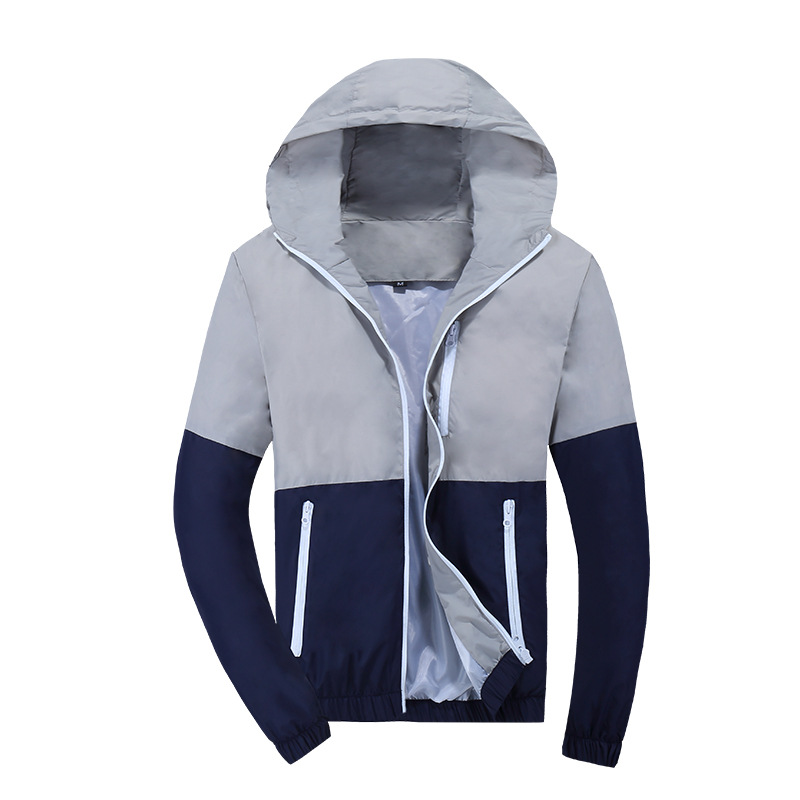 Casual Thin Mens Hooded Windbreaker Jacket
