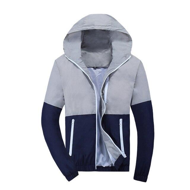 Jacket Men Windbreaker 2018 Spring Autumn Fashion Jacket Men's Hooded Casual Jackets Male Coat Thin Men Coat Outwear Couple