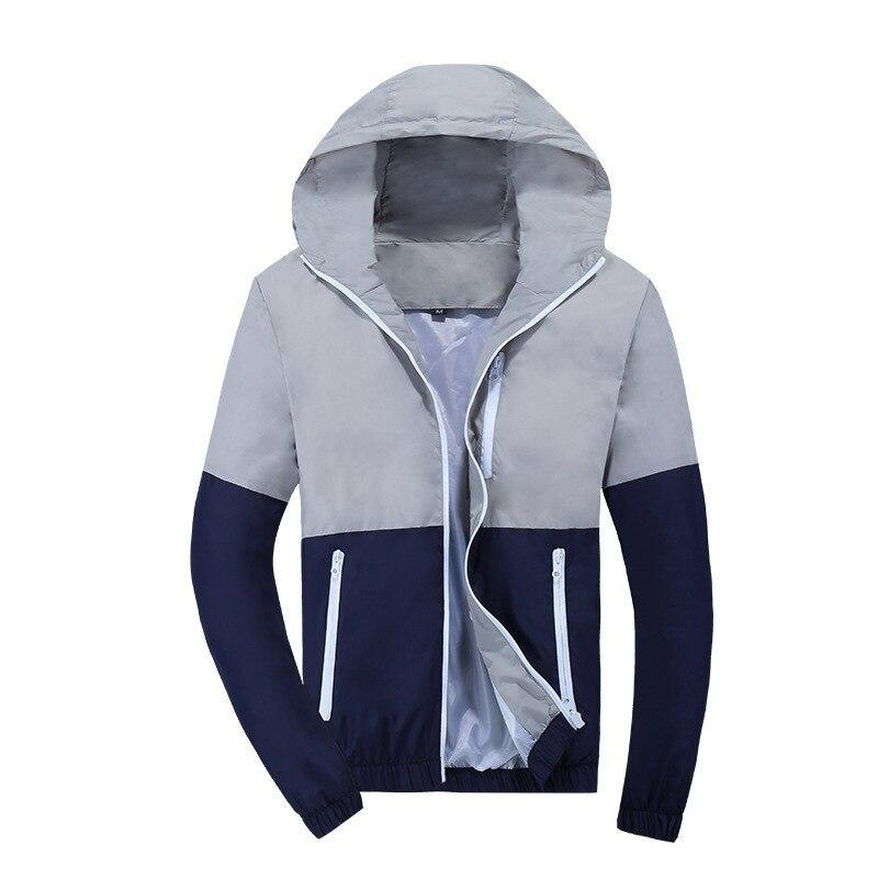 Chaqueta Hombre rompevientos 2018 primavera moda Otoño chaqueta hombres con capucha Casual chaquetas hombre abrigo Delgado hombres abrigo Outwear pareja