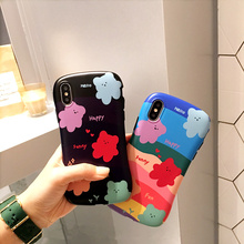 Jelly bear small waist shape phone case for iphone xsmax x xr 6s 6 7 8 plus matte shockproof dinosaur silicone repky cover hull