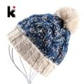 2017 Womens Beanie Winter Knit Pompom Hat Beanie Cap Bonnet Gorros Chapeau Ladies Hand-Knitted Hats For Women Beanies