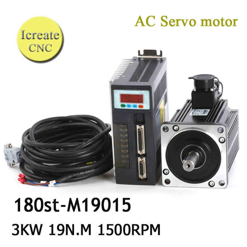 Free Shipping 3.0Kw cnc servo kit servo motor kits 3000w servo motor matched servo drive synchronous motor 220v free shipping used in good condition like stepper motor without gear cmp80s bp ky rh1m sb1 400v ac servo motor drive ems