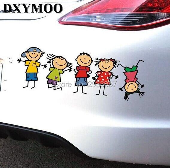 28x10cm забавный мультфильм счастливая семья детства дети играют наклейки автомобиль винил лента окна мазутного резервуара дверь автомобиля стайлинг