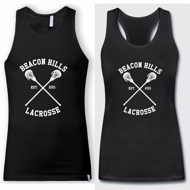 2018 Couple Matching Beacon Hills Lacrosse Teen Wolf Letter Printed Tank  Top Vest Anniversary Vest Valentineu0027s