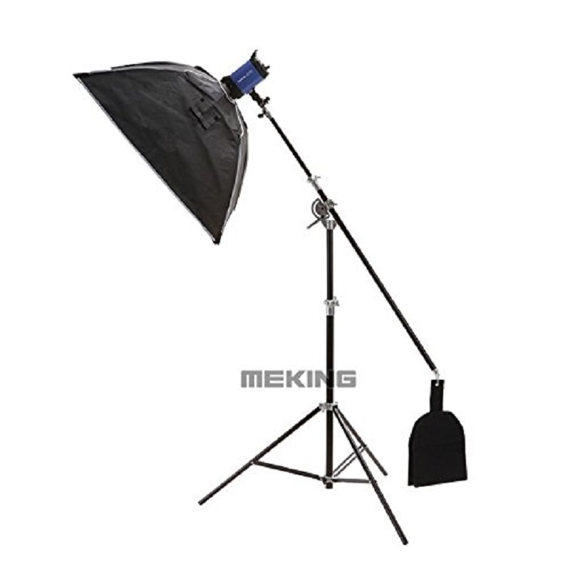 Selens SGL-400ZB 400cm/13ft Air-Cushioned Boom Arm Light Stand Double Heavy Duty with Sand Bag Reflector Support System Studio jb300 pro premium grade light stand 2 8m stand with air cushion professional air cushioned light stand no00dc