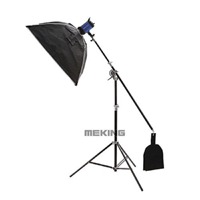 Selens SGL-400ZB 400cm/13ft Air-Cushioned Boom Arm Light Stand Double Heavy Duty with Sand Bag Reflector Support System Studio