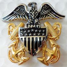 Вторую мировую войну WW2 ВМС США сотрудников большой шапка в форме орла металлический военный значок