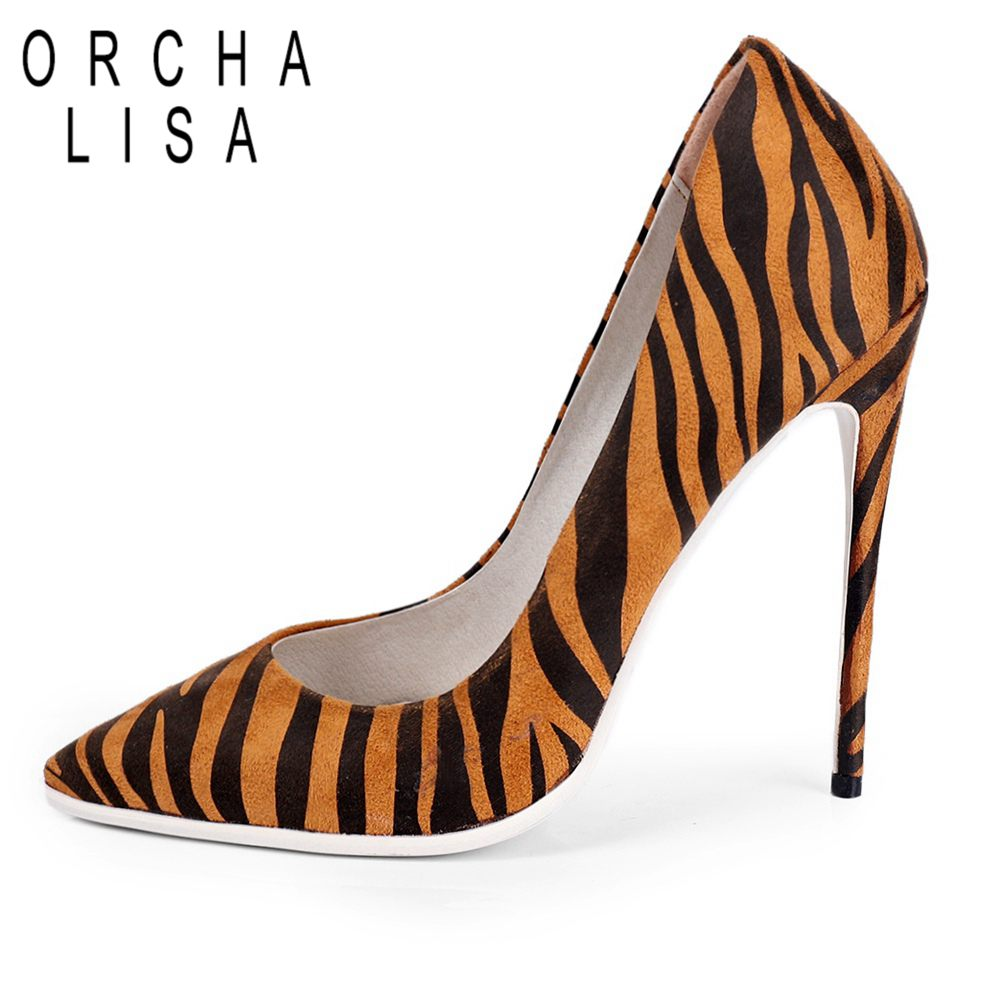 ORCHA LISA <font><b>high</b></font> quality Sexy <font><b>12</b></font> <font><b>cm</b></font> <font><b>High</b></font> <font><b>heels</b></font> Women pumps Thin <font><b>heel</b></font> office ladies dress shoes Party Wedding shoes image