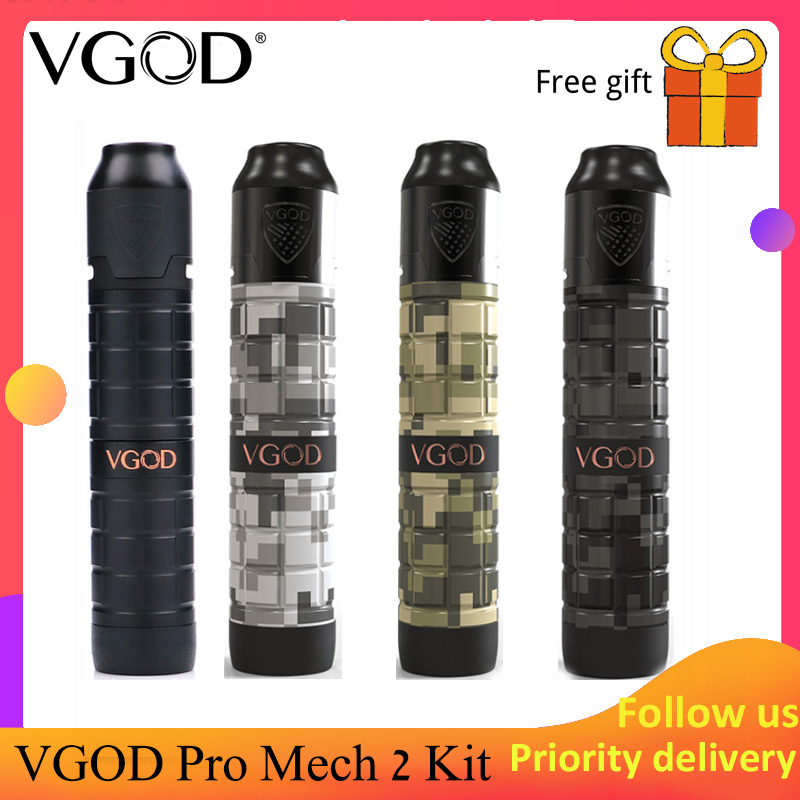 Original VGOD Pro Kit com 2ml VGOD 2 Elite Rda Mech pro 2 mech mod atualizado VGOD pro mech elite mod Ehpro mod como vgod Frio Stee