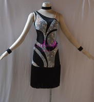 KAKA NL1506,Women Dance Wear,Fringe Latin Dress,Salsa Dress Tango Samba Rumba Chacha Dress,women dance dress