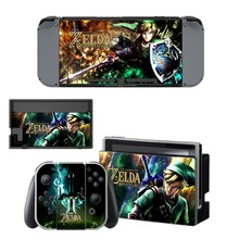 The Legend of Zelda Decal Vinyl Skin Sticker for Nintendo Switch NS Console+Controller+Stand Holder Protective Film