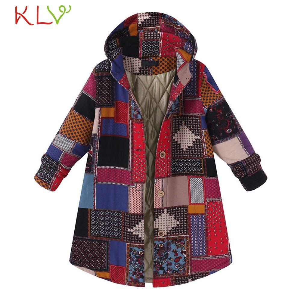 Women Jacket Winter Hooded Pockets Vintage Oversize Long 2018 Plus Size Ladies Chamarra Cazadora Mujer Coat For Girls 18Oct24