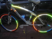 Bicycle tire reflective stickers 26 inch mountain bike riding  accessories light equipment