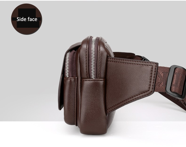 2016 Men Travel Bags Mens Leather Belt Bag Waist Pack Men Waist Bag Fanny Pack Leather Waist Pochetes Homem Bolso Cintura (30)