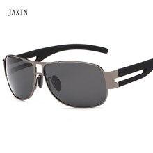 JAXIN Retro aviator Polarized Sunglasses Men metal frame wild Sun Glasses Mr outdoor fishing travel driving goggles UV400okulary