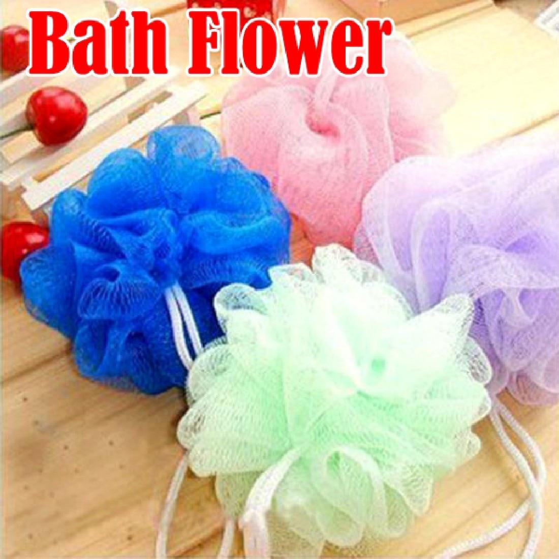 New Style Multicolour bath ball Scrub Strap Exfoliate Puff Sponge ...