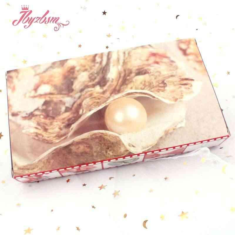טבעי מים מתוקים פרל מאחל תיבת שרשרת פופולרי כלוב בעל טבעי צדפה תיבת DIY תכשיטי תיבת לאישה חג מתנה 1 תיבה