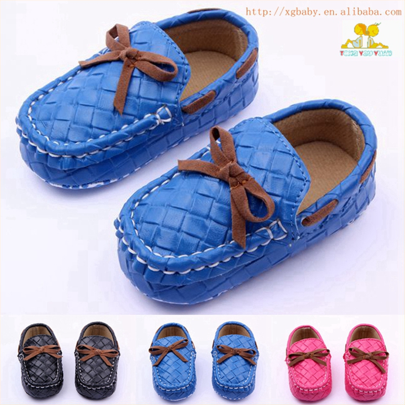 High Quality Anti-Slip Soft Sole Leather Baby Shoes Infant Boy Girl Shoes For 0-15 Month ...