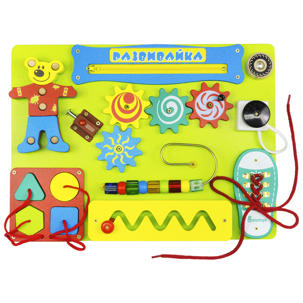 Фото - Puzzles Alatoys BB111 play children educational busy board toys for boys girls lace maze toywood contrast lace keyhole back blouse