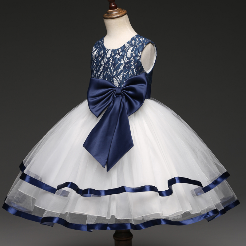 a50e19369e2 Formal Teenage Girls Party Dresses Blue Prom Dress Baby Girl Clothes Kids  Girl Birthday Outfit Costume