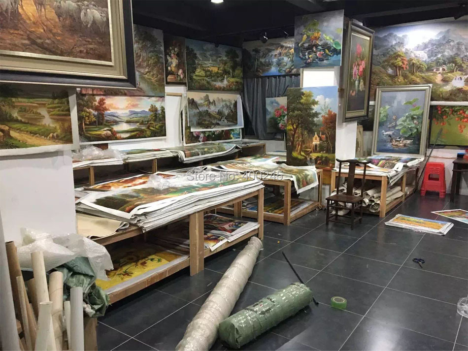 Современное искусство, пейзаж Пьер Август Ренуар картина воспроизводство возле озера домашний декор ручная работа+ высокое качество