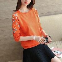 3606 футболка с вышивкой головы свитер платье комплект цветы 32