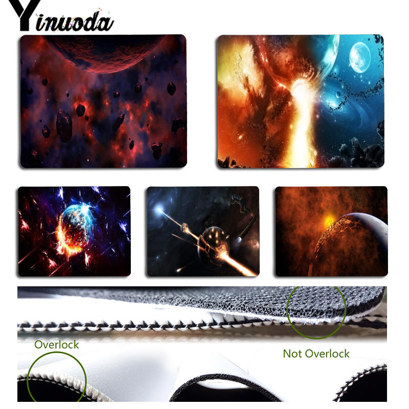 Yinuoda New Printed Science fiction Space Universe Computer Gaming Mousemats Size for 18x22cm 25x29cm Small Mousepad